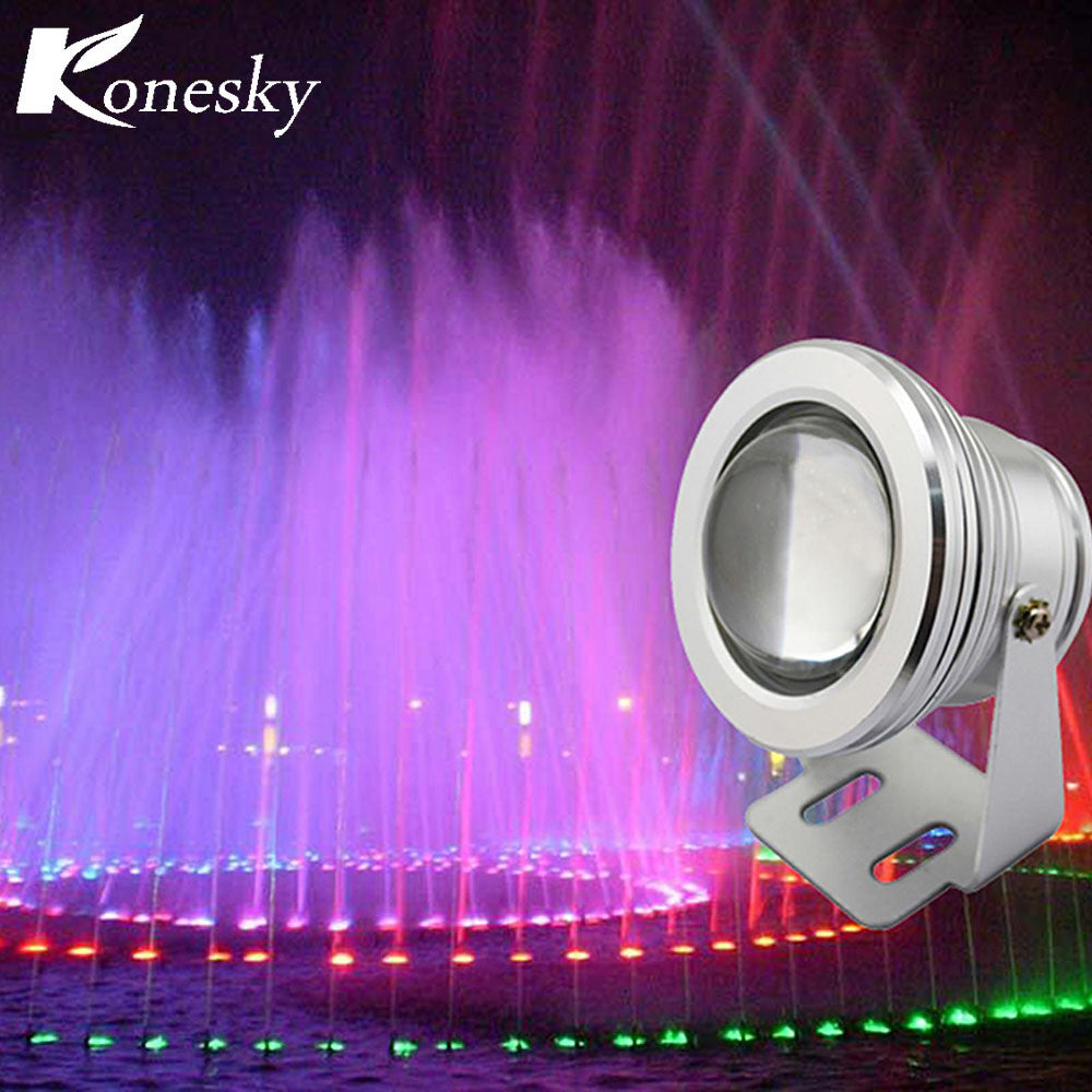 12 Colors 10W RGB LED Underwater Fountain Light Spotlight Timing Function Pool Pond Fish Tank Aquarium LED Light Lamp - sweet-casa.com