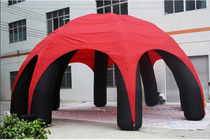 12m Diam  Super Green  Inflatable Spider Tent  For Advertising with 10 Legs - sweet-casa.com