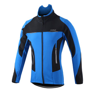 Lixada Men's Outdoor Cycling Jacket Winter Thermal Breathable Comfortable Long Sleeve Coat Water Resistant Riding Sportswear - sweet-casa.com
