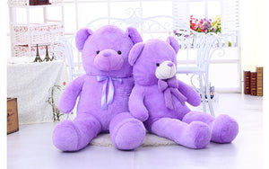 55cm/75cm cartoon teddy bear big lavender bear plush toy doll hug bear pillow cushion, purple bear stuffed animal doll - sweet-casa.com