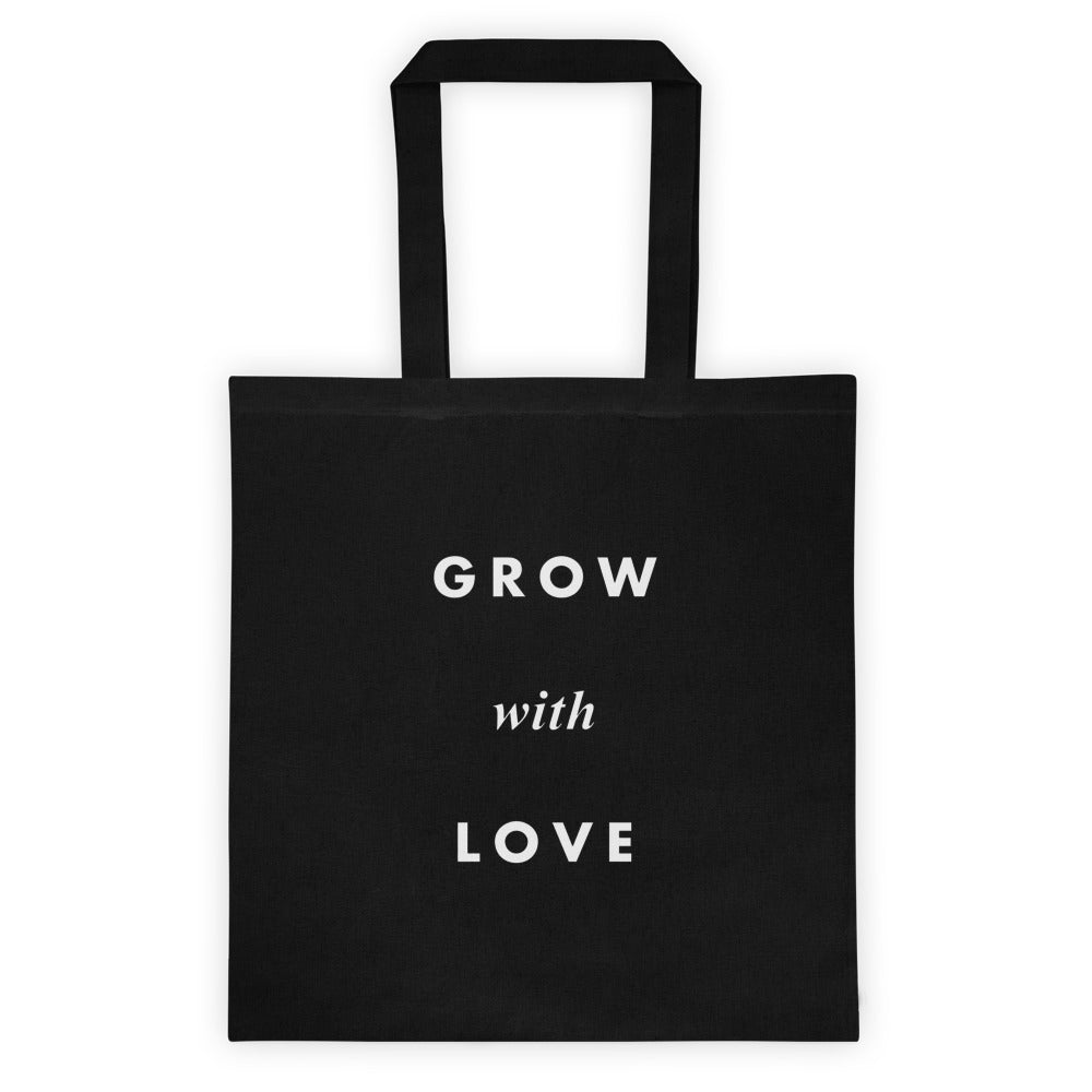 Grow with Love Tote Bag Black