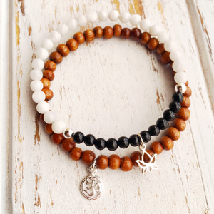 Yoga Inspired Bracelet Set for Confidence and Intuition