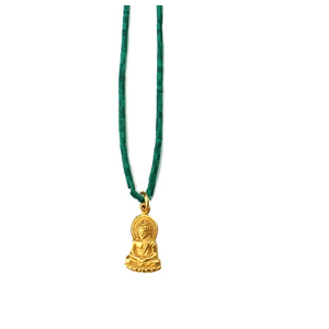 Green Turquoise Buddha Talisman Necklaces