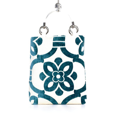 Velvet Stencil Small Tote Bag - Teal