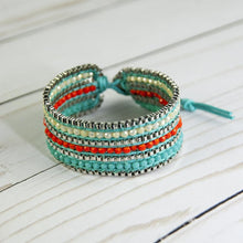 Looped  Bracelet-Tangerine