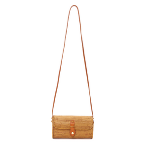 Mini Rattan Messenger Bag