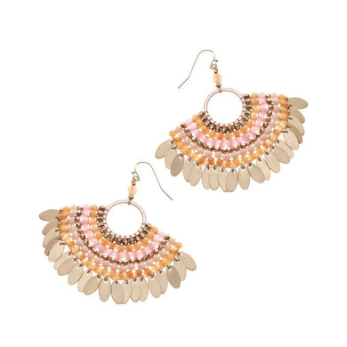 Beaded Fan Earrings