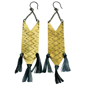 Lunasol Tribal Indigo Earrings