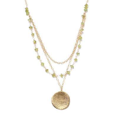 Triple Strand Peridot Necklace