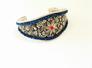 Tribal Silver Arm Cuff for slender arms