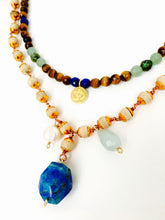 Eye of a Tiger- Layered Om Necklace, Inspired by Yoga