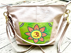 Hand painted Women's Faux Leather Ganesha Bag by Ethnocity