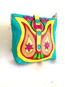 Hand Painted Mandala Crossbody Bag by Ethnocity