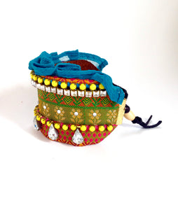 Colorful Bohemian Cuff Bracelet with rhinestones, summer jewelry trend