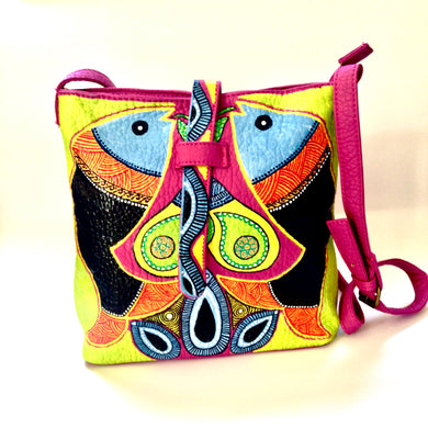 Hand Painted Crossbody Bag by Ethnocity