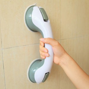 Helping Handle - Anti Slip Support - Bathroom Grab Rail W/ Vacuum Suction Cups- Set of 2