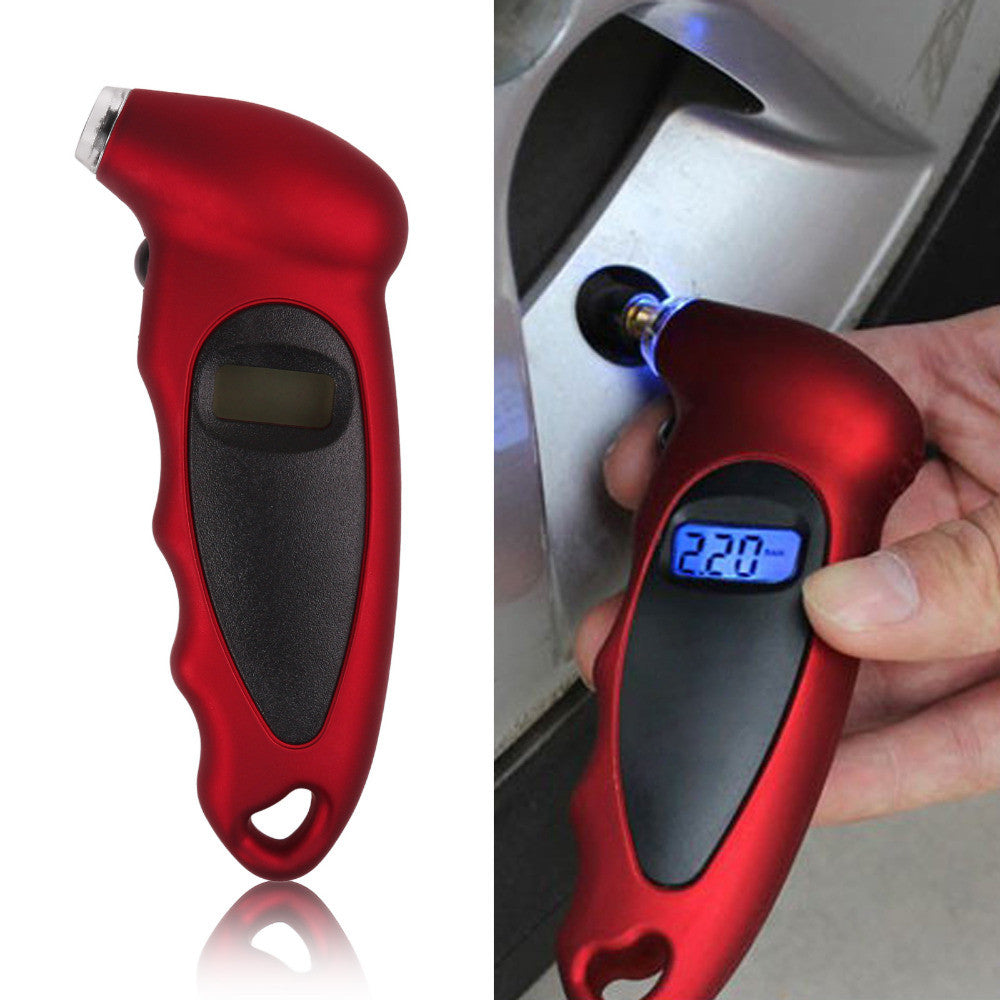 Car & Motorcycle Digital Tire Pressure Gauge with Lcd Display