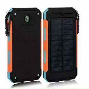 Portable Solar Power Bank 20000mah For Iphone - Waterproof Dual USB Charging with Flashlight