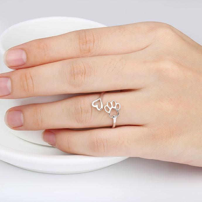 Paw + Heart Ring