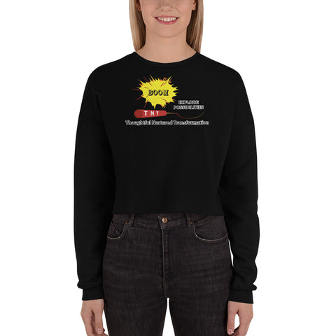 "T-Bird Soaring 7503  ""TNT"" Women's Fleece Crop Sweatshirt"