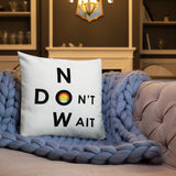 "T-Bird Soaring ""Don't Wait - Now""  All-Over Print Premium Pillow Case W/ Stuffing 2019 Updated Version"