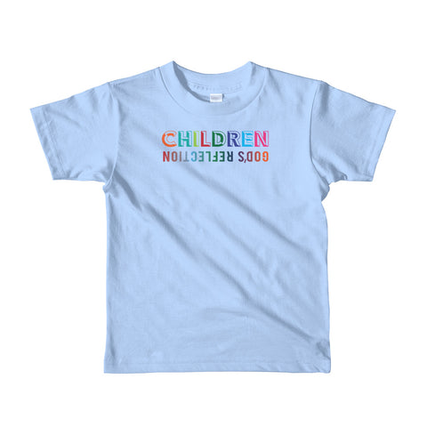 "T-Bird Soaring 2105  ""Children - God's Reflection"" Short Sleeve Kids T-Shirt"