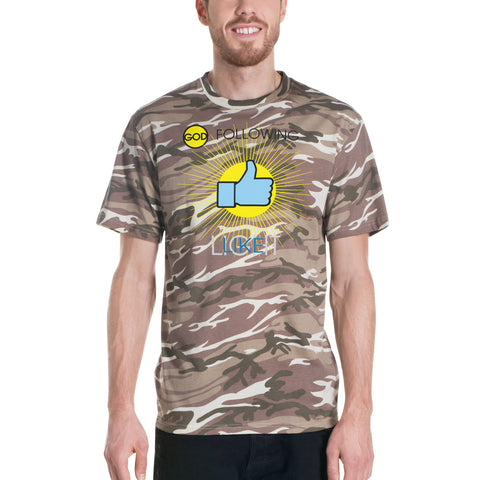 "T-Bird Soaring ""God Following"" Short-Sleeved Camouflage T-Shirt"