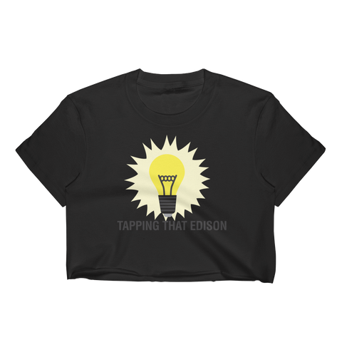 "T-Bird Soaring 332 ""Tap That Edison"" Women's Crop Top"