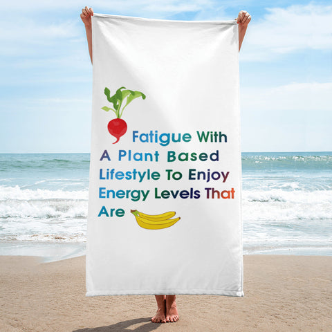 T-Bird Soaring Plant Based Lifestyle Beach Towel