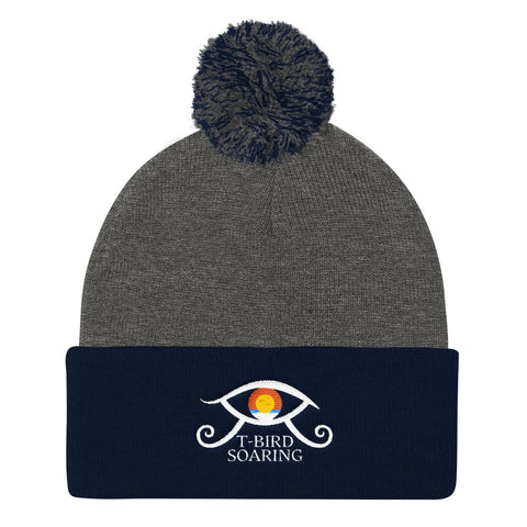 "T-Bird Soaring ""Elevating Eye"" Pom Pom Knit Cap"