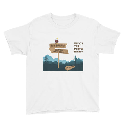"T-Bird Soaring"" Where's Purpose Headed?""Youth Short Sleeve T-Shirt"