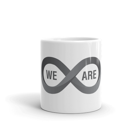 "T-Bird Soaring ""We Are Infinite"" White Glossy Mug"