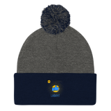 "T-Bird Soaring ""God Following"" Pom Pom Knit Cap"