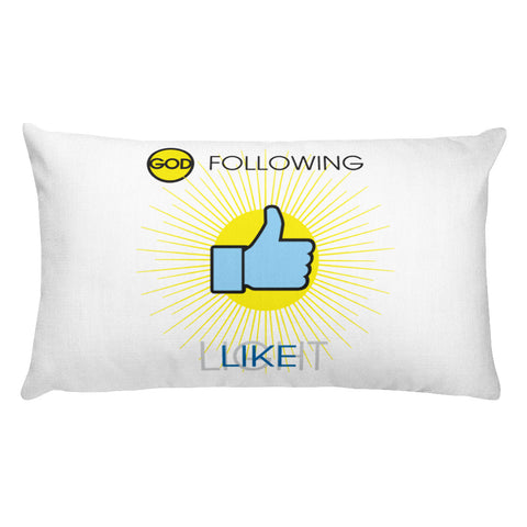 "T-Bird Soaring ""God Following"" Rectangular Pillow"