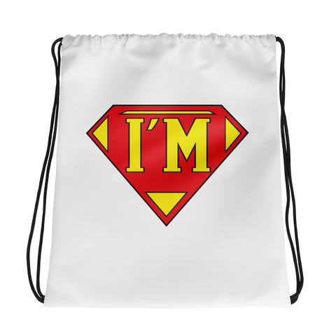 "T-Bird Soaring ""I'm Super"" Drawstring Bag"