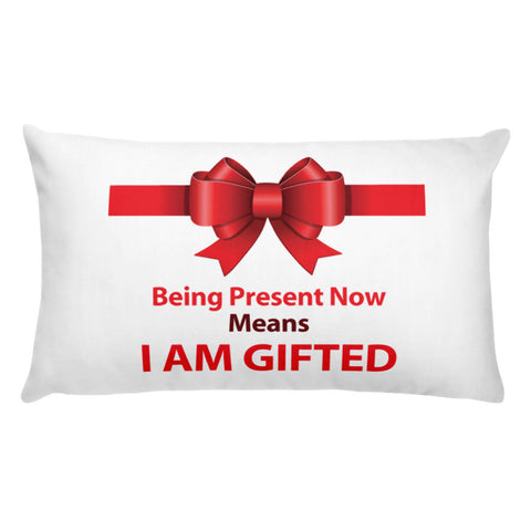 "T-Bird Soaring ""Gifted Now"" Pillow"