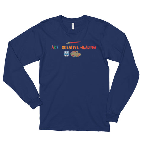 "T-Bird Soaring Unisex 2007  ""Art = Creative Healing"" Long Sleeve T-Shirt"