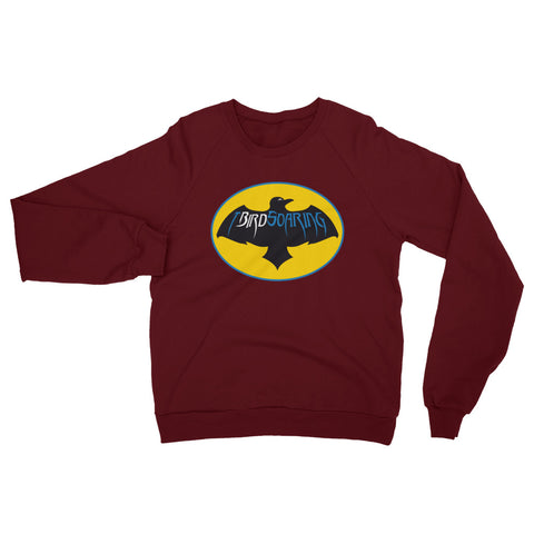 "T-Bird Soaring ""SoarMan"" 5454 Unisex California Fleece Raglan Sweatshirt"