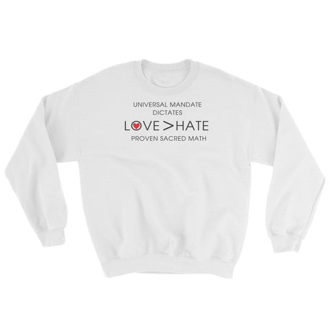 "T-Bird Soaring 18000 ""Love Over Hate"" Sweatshirt"