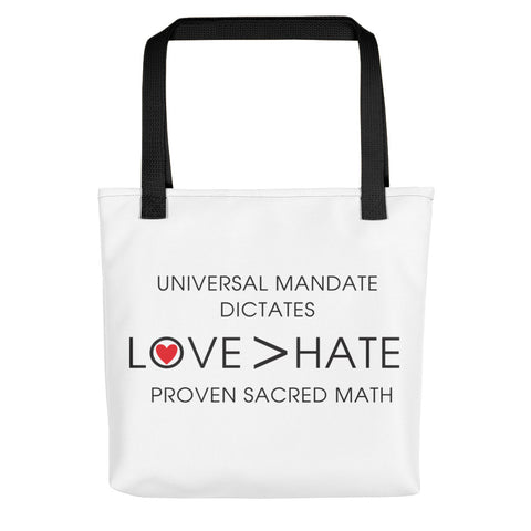 "T-Bird Soaring ""Love Over Hate"" All Over Tote Bag"