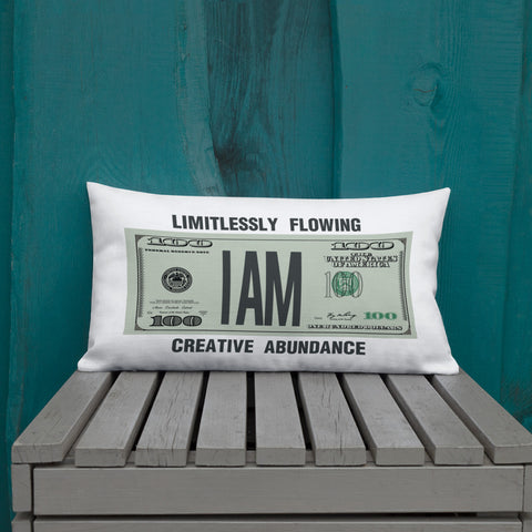 "T-Bird Soaring ""Limitle$$"" Premium Throw Pillow"