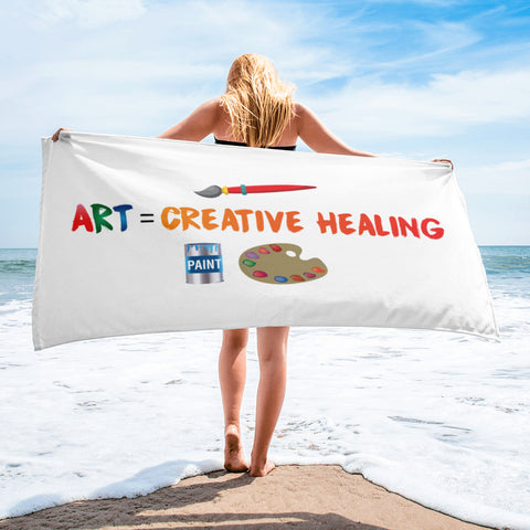 "T-Bird Soaring ""Art = Creative Healing"" Beach Towel"
