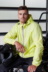 Max - Citrus Full Zip Packable Rain Jacket - Man rain jacket -  O8lifestyle