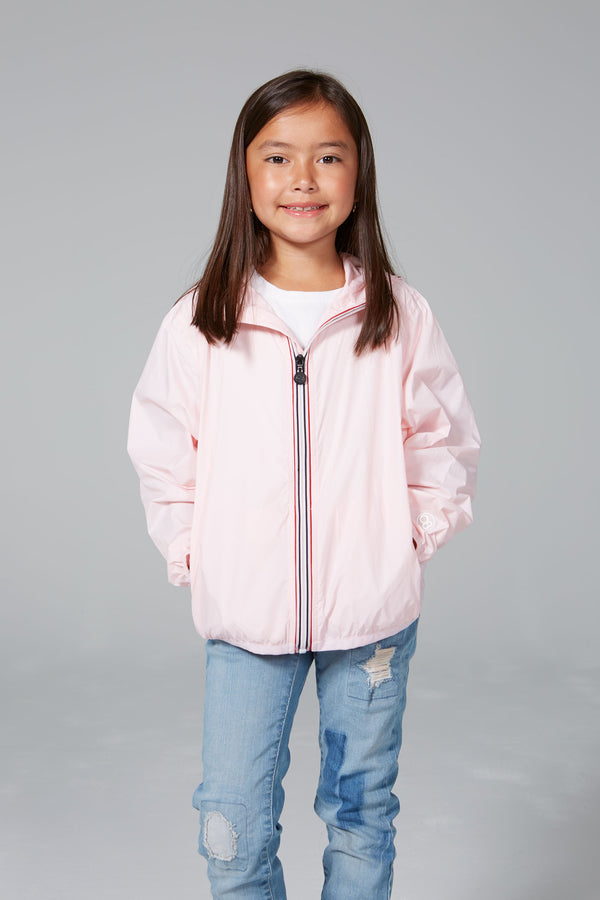 SAM - Kids Ballet Slipper Full Zip Packable Rain Jacket - Kids rain jackets -  O8lifestyle