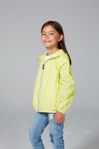 SAM - Kids Citrus Full Zip Packable Rain Jacket - Kids rain jackets -  O8lifestyle