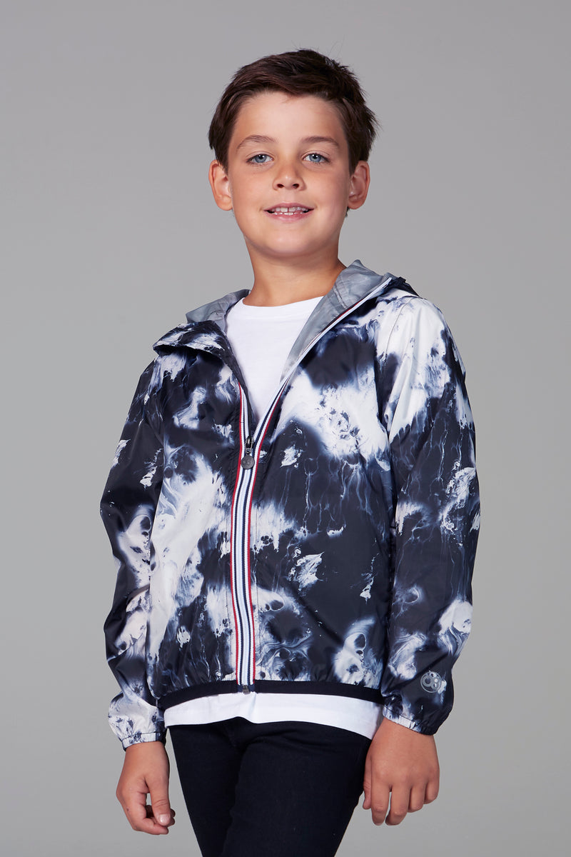 Sam Print - kids oil print packable rain jacket - Kids rain jackets -  O8lifestyle