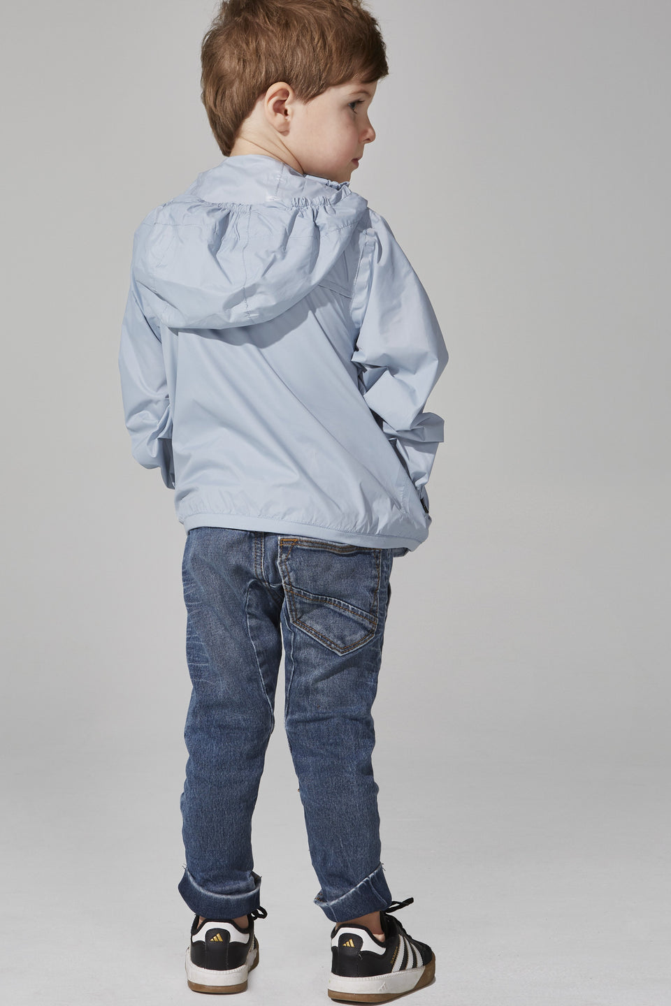 Kids Celestial Blue Full Zip Packable Jacket - Kids -  O8lifestyle