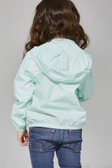 Kids Mint Full Zip Packable Jacket
