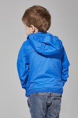 Kids Royal Blue Full Zip Packable Jacket - Kids -  O8lifestyle