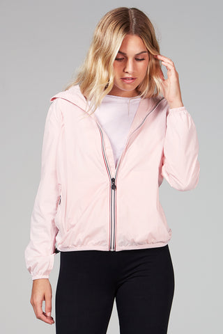 Sloane - Ballet Slipper Full Zip Packable Rain Jacket - Woman rain jacket -  O8lifestyle